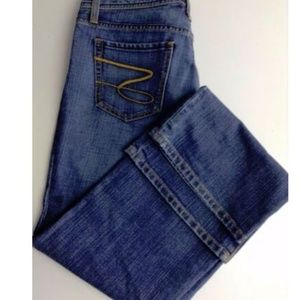 Seven 7 Premium Denim Flare Pants Embroidered Sz 8